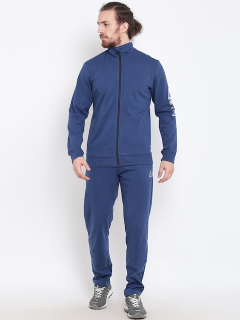 Reebok Navy Knit Training Tracksuit