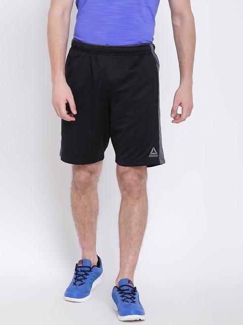 Reebok Men Black WOR KNIT Solid Training Shorts