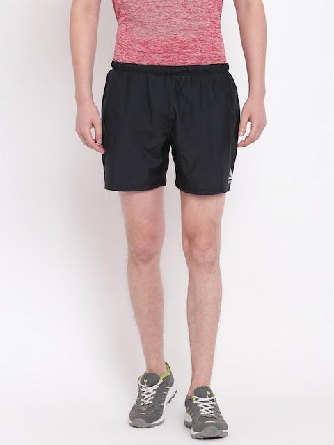 Reebok Men Black Solid Regular Fit Sports Shorts
