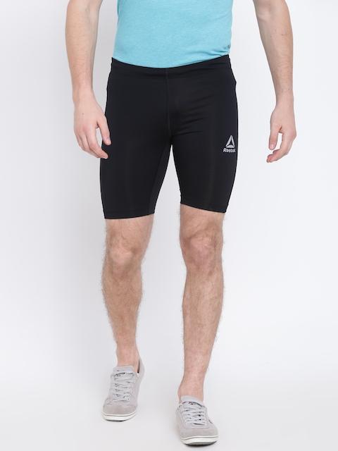 Reebok Men Black Solid Running Shorts