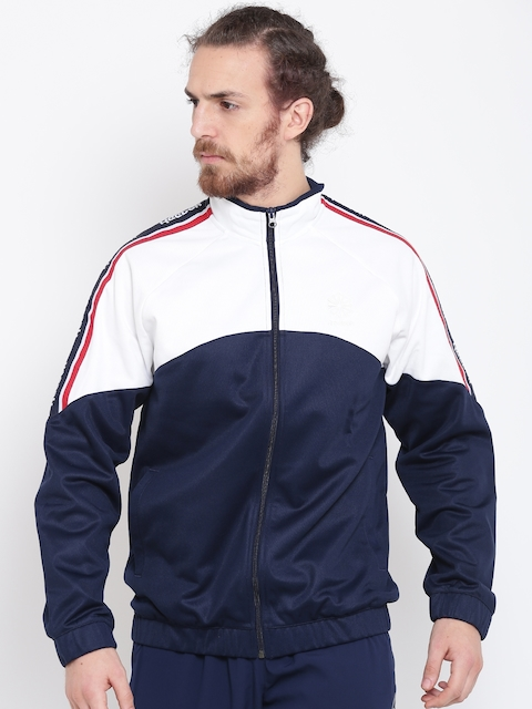 Reebok Classic Navy & White F Franchise Colourblocked Track Jacket