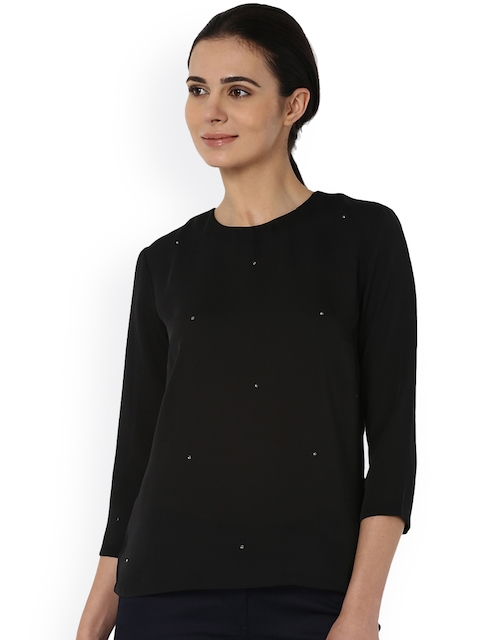 Van Heusen Woman Women Black Embellished Top
