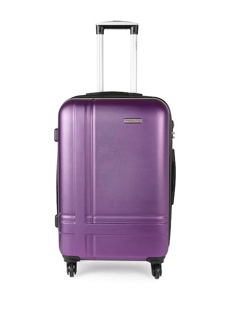 Pronto Unisex Purple GENEVA 4 W Spinner 68 Medium Trolley Suitcase
