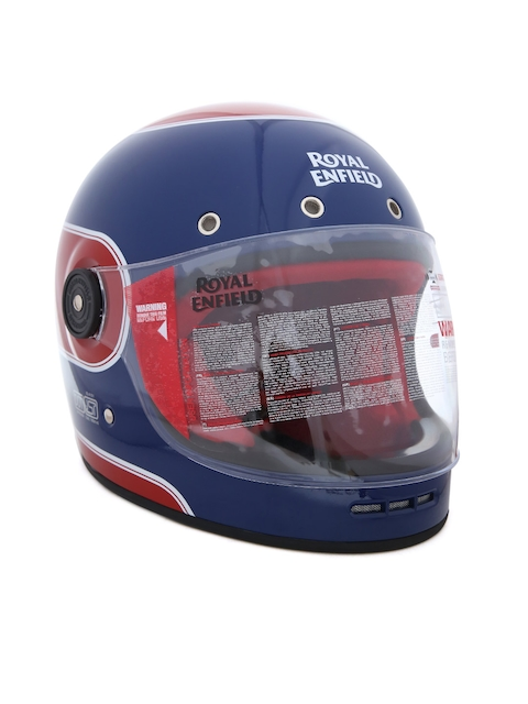 Royal Enfield Unisex Navy Blue and Red Classic Full Face Helmet RRGHEH000068