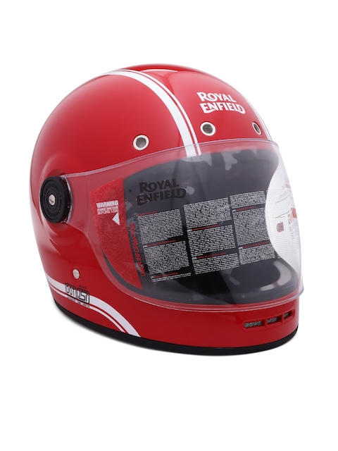 Royal Enfield Unisex Red Classic FF Striped Full Face Helmet RRGHEH000074
