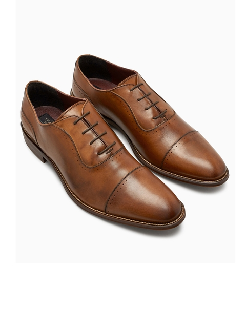 next Men Brown Leather Oxfords