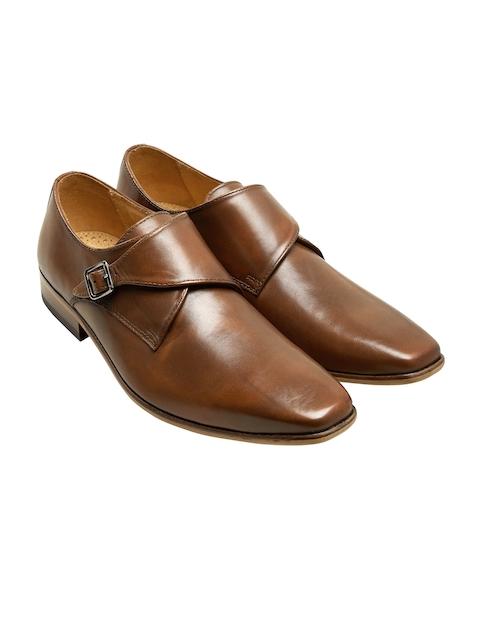 next Men Brown Leather Slip-On Formal Shoes
