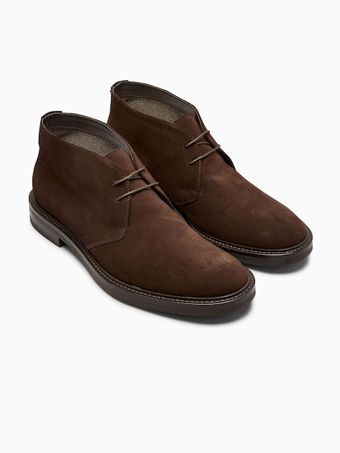 next Men Coffee Brown Flat Boots