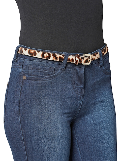 next Women Brown Printed Belt