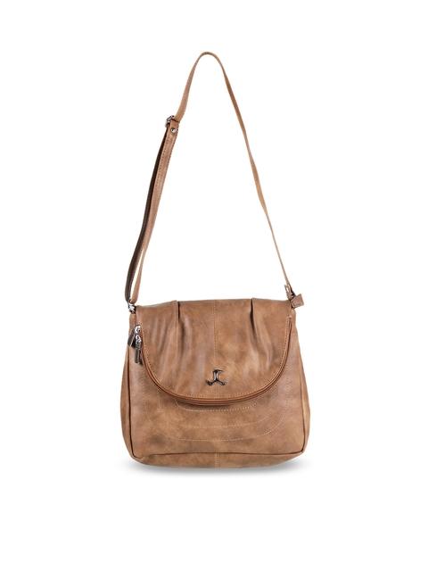Mochi Brown Solid Sling Bag