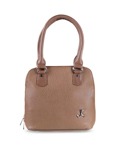 Mochi Brown Textured Shoulder Bag