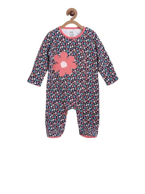next Girls Navy Blue Printed Sleepsuit