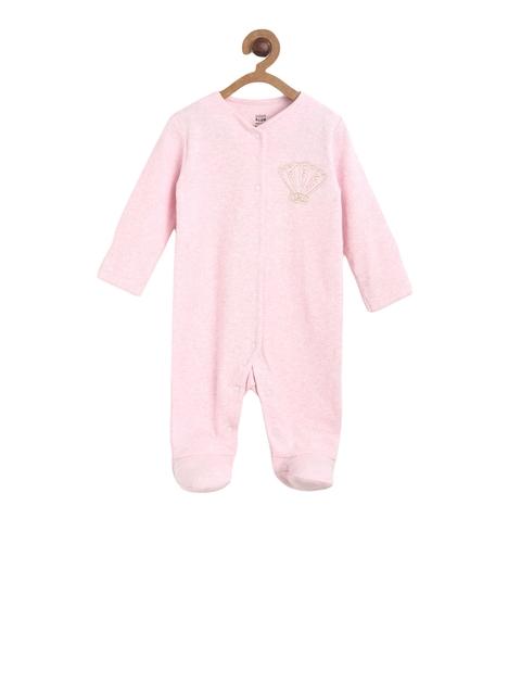 next Girls Pink Solid Sleepsuit