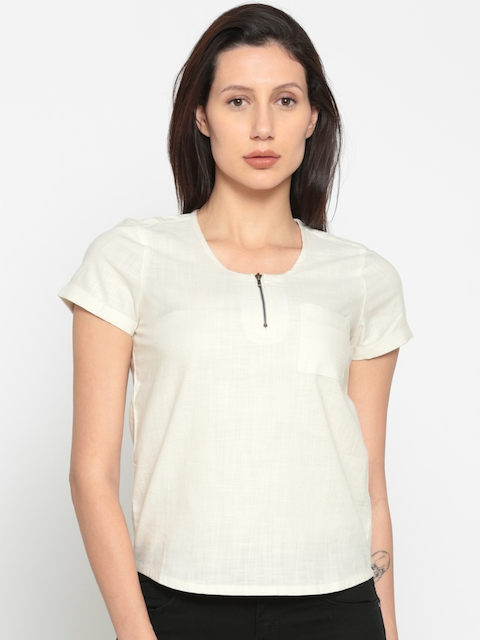 Wrangler Women Beige Solid Top
