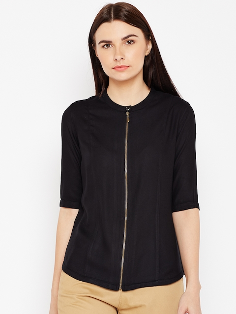 Wrangler Women Black Solid Top