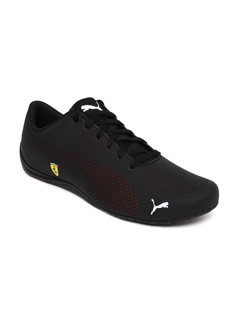 Puma Men Black Scuderia Ferrari Drift Cat 5 Ultra Sneakers