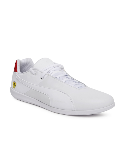 Puma Men White Scuderia Ferrari Future Cat Casual Sneakers