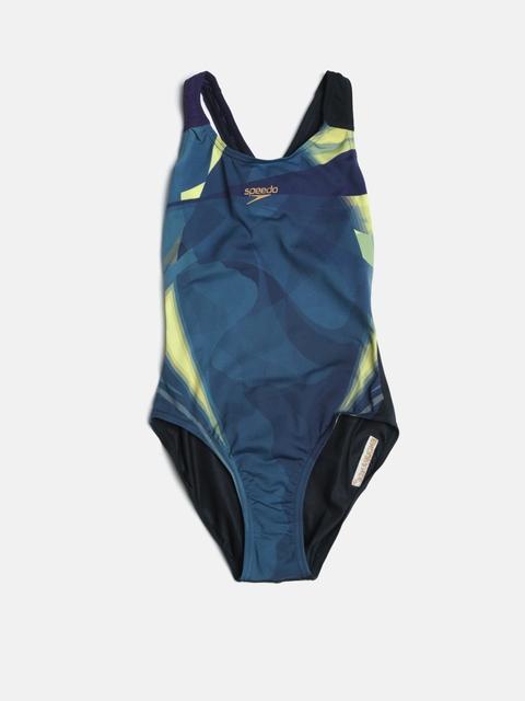Speedo Girls Multicoloured Printed Swimsuit