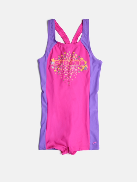 Speedo Girls Pink & Purple Printed Bodysuit 805513A242