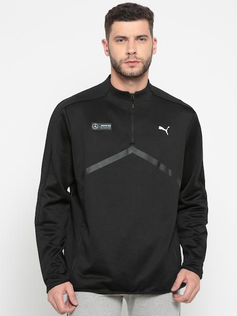 Puma Men Black Solid MAPM T7 Mercedes Sweatshirt