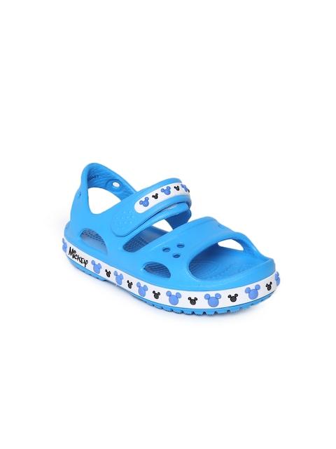 Crocs Girls Blue Crocband II Mickey Comfort Sandals