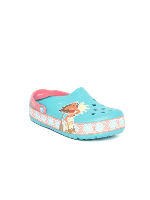 Crocs Kids Blue Printed Clogs