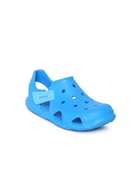 Crocs Unisex Blue Swiftwater Wave Solid Clogs