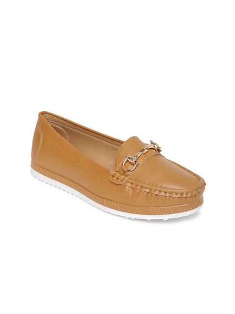 Addons Women Tan Brown Loafers