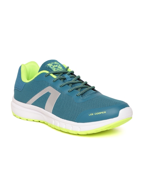 Lee Cooper Men Teal Green Walking Shoes
