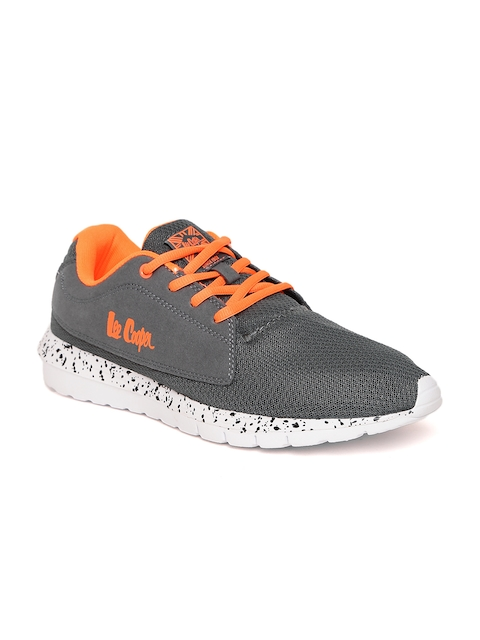 Lee Cooper Men Grey Mesh Walking Shoes
