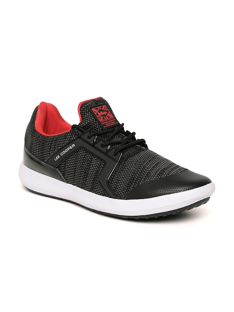 Lee Cooper Men Black Walking Shoes