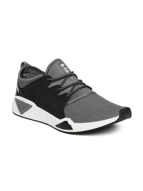 Lee Cooper Men Grey & Black Walking Shoes