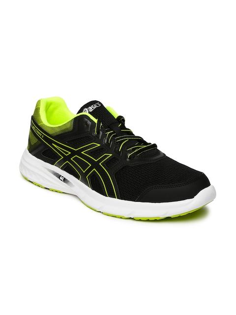 ASICS Men Black & Lime Green GEL-EXCITE 5 Running Shoes