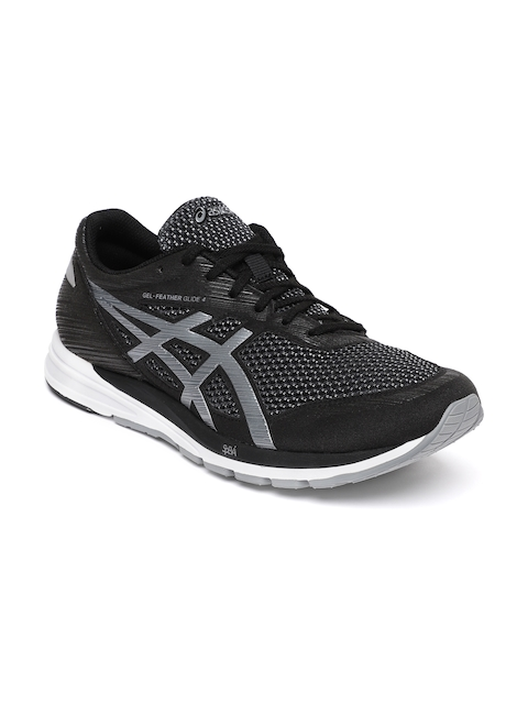 Asics Black GEL-FEATHER GLIDE 4 Running Sports Shoes