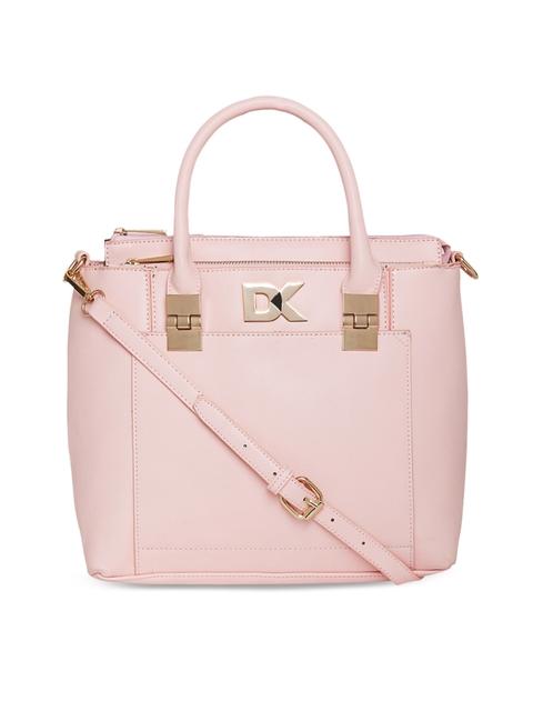Diana Korr Pink Solid Handheld Bag