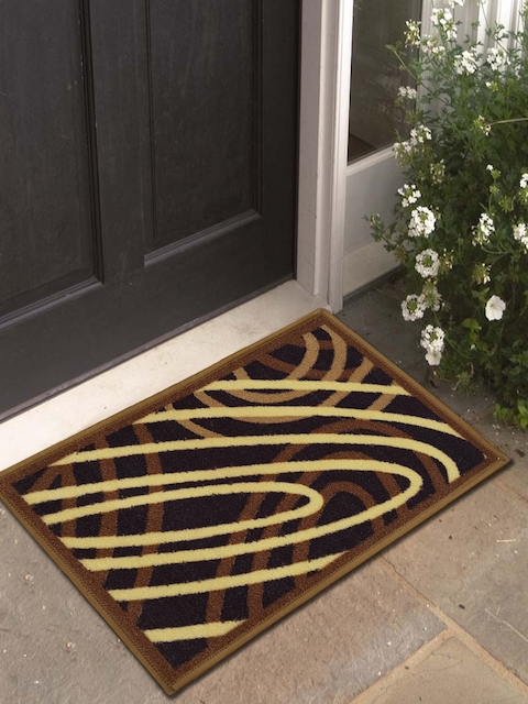 Athom Trendz Brown Printed Doormat