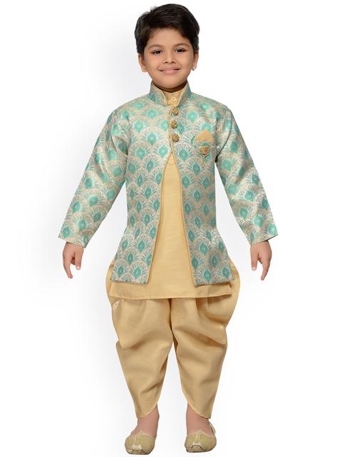 AJ Dezines Baby Boys Indo Western Sherwani Set for Kids