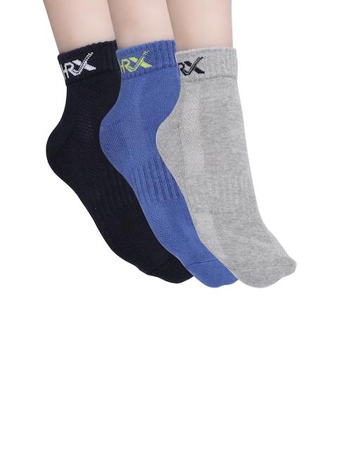 HRX by Hrithik Roshan Active Men Pack of 3 Padded Ankle-Length Socks