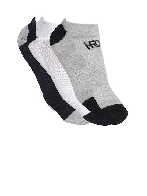 HRX by Hrithik Roshan Men Pack of 3 Patterned Ankle Length Socks