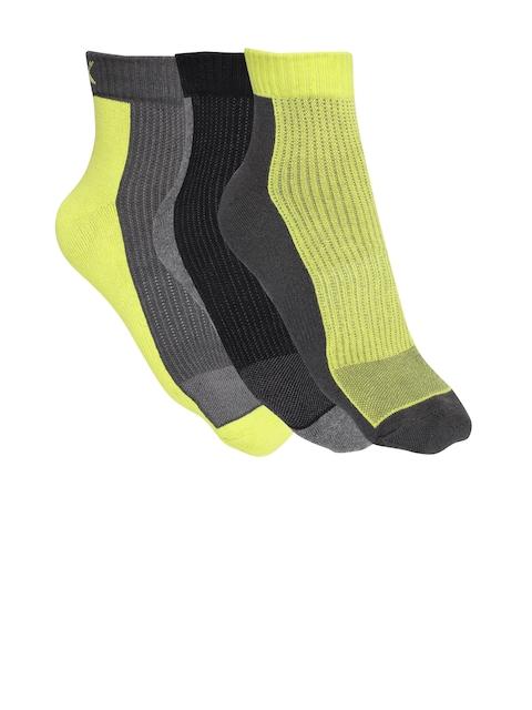 HRX by Hrithik Roshan Men Pack of 3 Colourblocked Ankle-Length Socks
