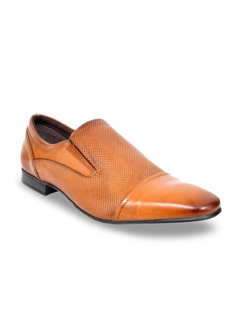 Allen Cooper Men Tan Leather Formal Shoes