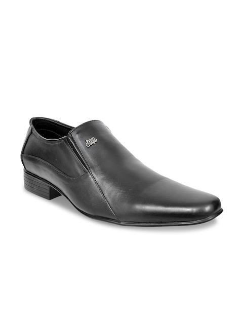 Allen Cooper Men Black Leather Formal Shoes