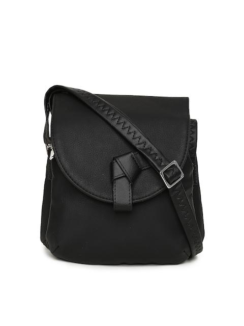 Baggit Black Solid Sling Bag