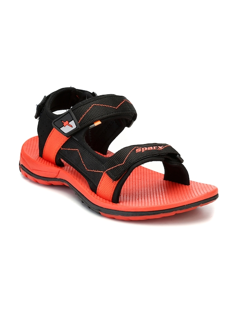 Sparx Men Black & Red Comfort Sandals