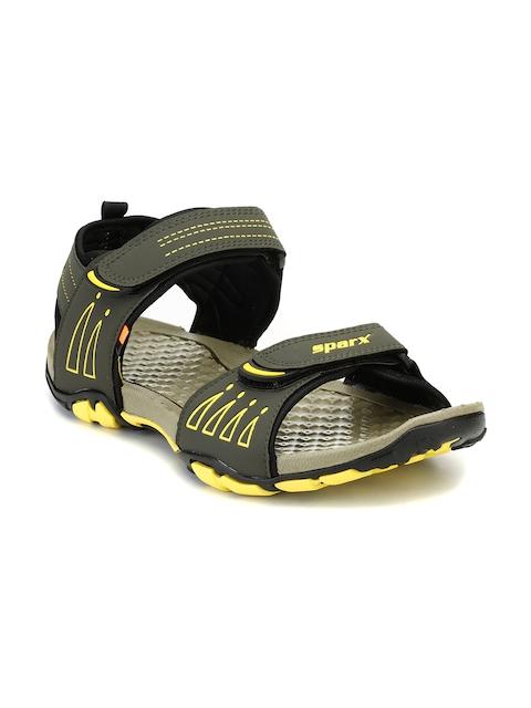 Sparx Men Olive Green & Grey Comfort Sandals