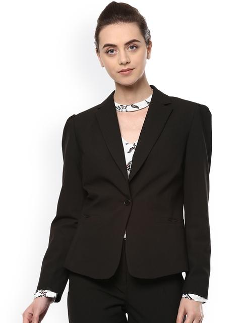Allen Solly Women Black Formal Blazer