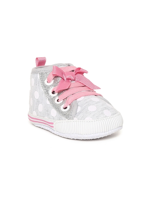 Fame Forever by Lifestyle Girls Grey Printed Mid-Top Sneakers