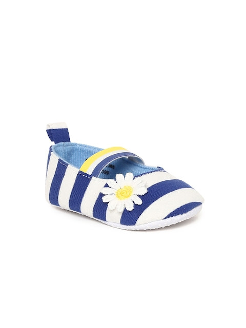 Fame Forever by Lifestyle Girls Blue Striped Slip-On Sneakers