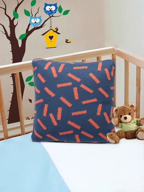 Pluchi Navy Blue Fibre Baby Pillow
