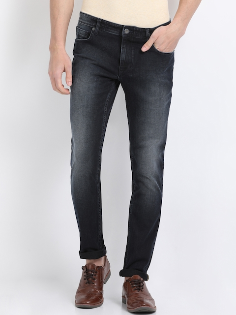 Indian Terrain Men Black Skinny Fit Mid-Rise Clean Look Jeans